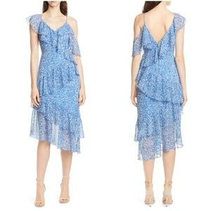 Alice + Olivia Olympia Asymmetrical Ruffle Dress